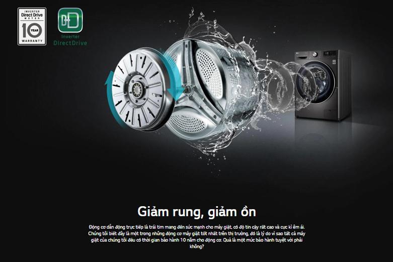 Máy giặt sấy LG Inverter 9 kg FV1409G4V | Công nghệ Inverter tiết kiệm điện