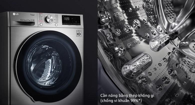 Máy giặt sấy LG Inverter 9 kg FV1409G4V | Tăng kích thước lồng giặt