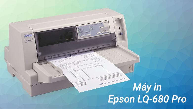 Máy in Epson LQ-680 Pro | Máy in có độ phân giải cao