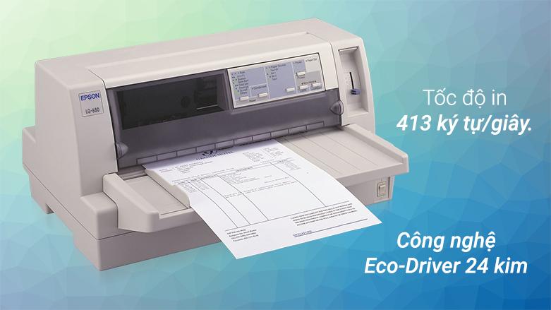 Máy in Epson LQ-680 Pro | Tốc độ in vượt trội