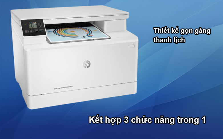 Máy in HP Pro MFP M182n-7KW54A|| Thiết kế gọn gàng, thanh lịch
