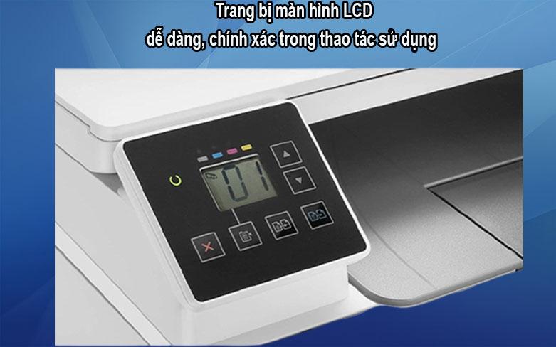 Máy in HP Pro MFP M182n-7KW54A|| Trang bị màn hình LCD