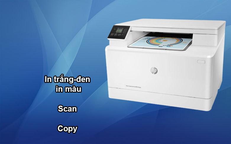 Máy in HP Pro MFP M182n-7KW54A || Kiểu máy vừa có thể in trắng đen và in màu