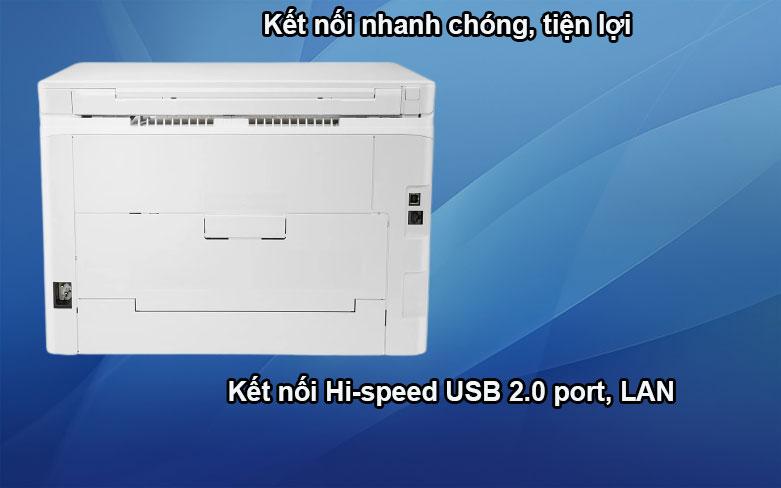 Máy in HP Pro MFP M182n-7KW54A|| Kết nối nhanh chóng