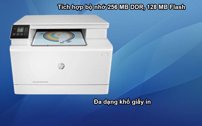 Máy in HP Pro MFP M182n-7KW54A || Tích hợp bộ nhớ