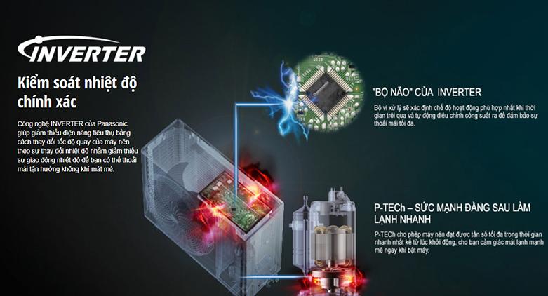 Máy lạnh Panasonic Inverter 2.5 HP CU/CS-XU24UKH-8   Công ngệ Inverter hiện đại