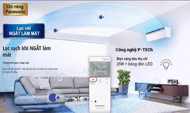 Máy lạnh Panasonic Inverter 2.5 HP CU/CS-XU24UKH-8   Lọc với ngắt làm mát