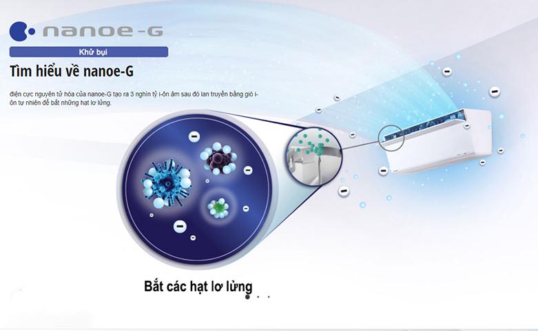 Máy lạnh Panasonic Inverter 2.5 HP CU/CS-XU24UKH-8   Trang bị Nanoe-G