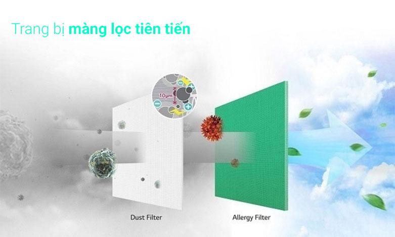 Máy lạnh LG Inverter 2.0 HP V18ENF1 | Trang bị màn lọc tiên tiến
