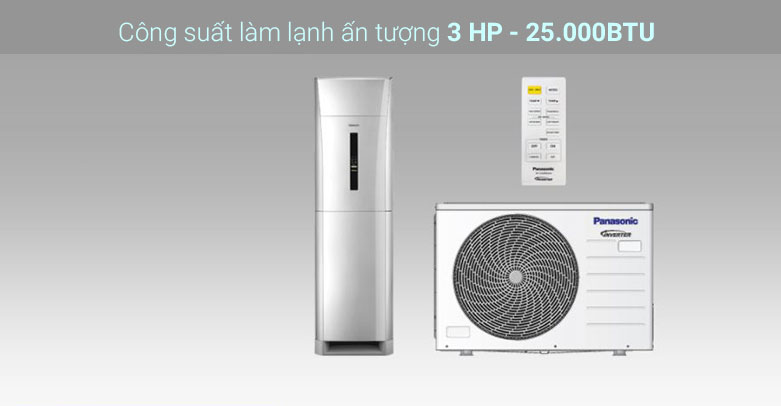 Máy lạnh tủ đứng Panasonic Inverter CU/CS-E28NFQ | Công suất làm lạnh ấn tượng