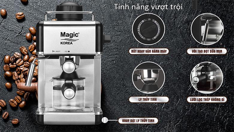 Máy pha cà phê Magic A-98   Tính năng vượt trội kèm theo các phụ kiện hiện đại