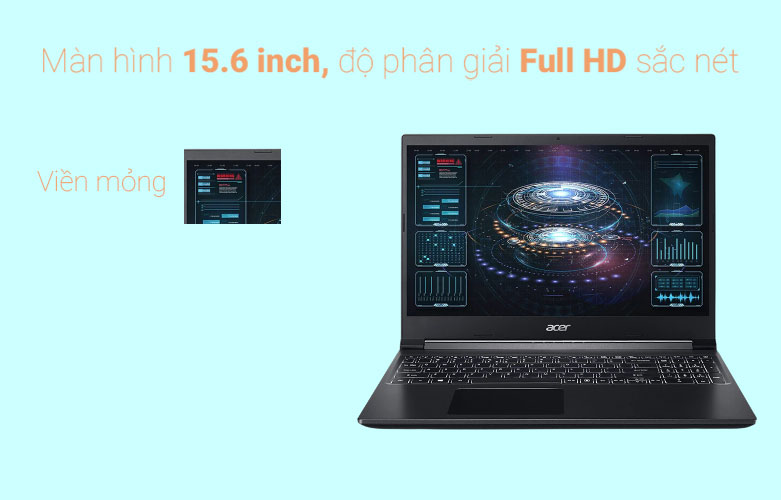Laptop Acer Aspire 7 A715-41G-R150 (NH.Q8SSV.004) | Màn hình 15.6 sắc nét