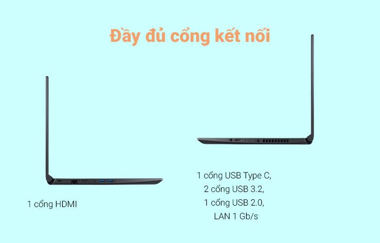 Laptop Acer Aspire 7 A715-41G-R150 (NH.Q8SSV.004) | Cổng kết nối đa dạng