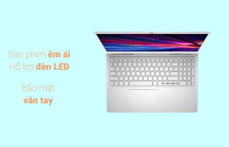Laptop Dell Inspiron 15 7501 (7501-N5I5012W) | bàn phím hỗ trợ đèn nền