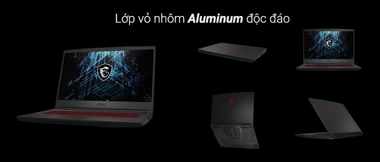 Laptop MSI Thin GF65 10UE- 228VN   Lớp vỏ nhôm độc đáo