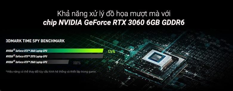 Laptop MSI Thin GF65 10UE- 228VN   Khả năng xử lý đồ họa mượt mà