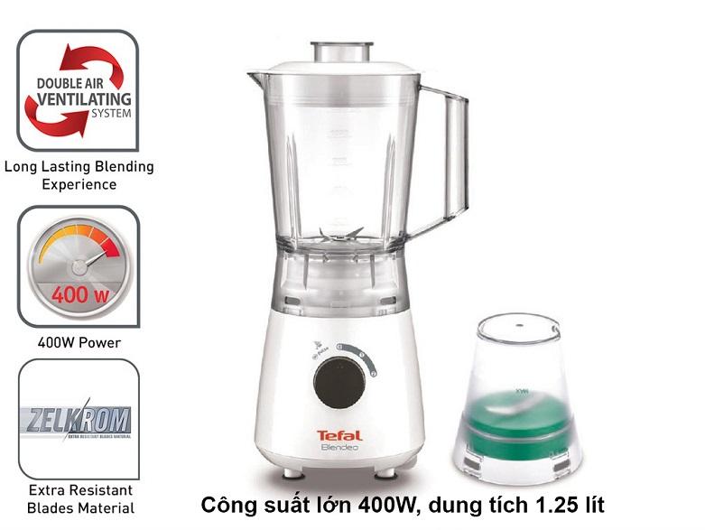 Máy xay sinh tố Tefal BL2A1166 | Công suất lớn 400W, dung tích 1.25 lít