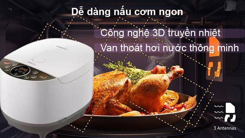 Nồi cơm điện điện tử Philips HD4515 | công nghệ 3D