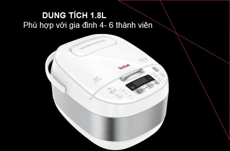 Nồi cơm điện tử Tefal RK752168 - 1.8L, 750W   Dung tích 1,8L