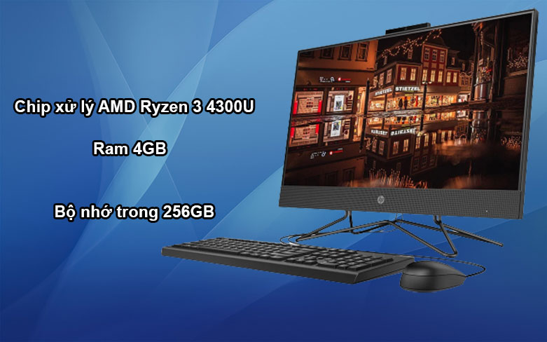 PC HP AIO 205 Pro G4 (31Y22PA) | Hiệu năng tối ưu