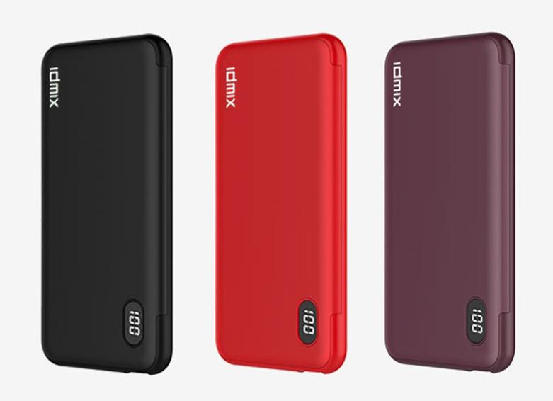 Pin sạc dự phòng PD 3.0 IDMIX Fast Charging - 10.000mAH - (Đỏ)   có nhiều chứng nhận quốc tế về chất lượng sản phẩm