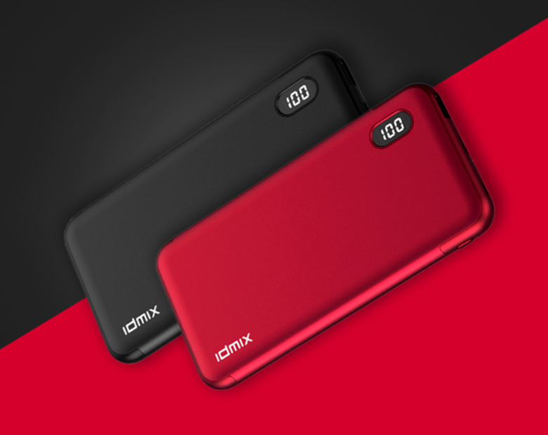 Pin sạc dự phòng PD 3.0 IDMIX Fast Charging - 10.000mAH - (Đỏ)   PD 3.0 IDMIX Fast Charging