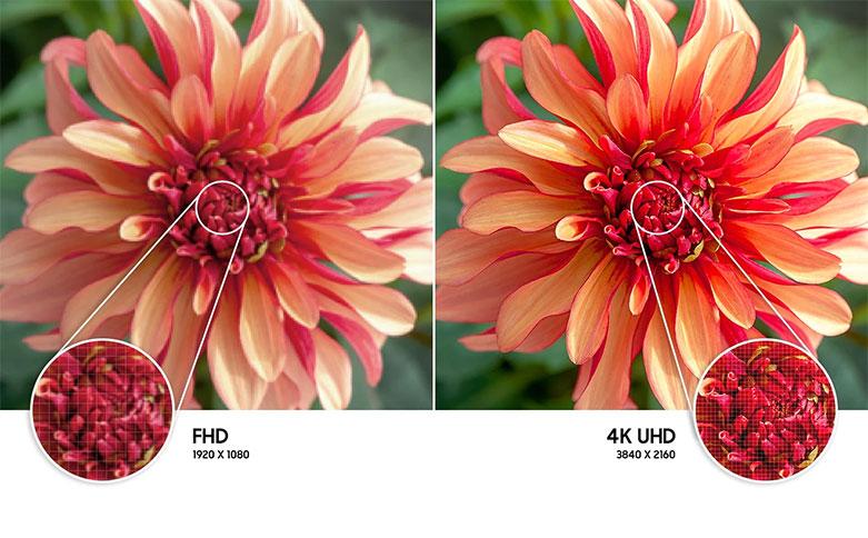 Smart Tivi Samsung 4K UHD 43 Inch UA43AU8000KXXV || màn hình 43 inch đạt chuẩn 4K