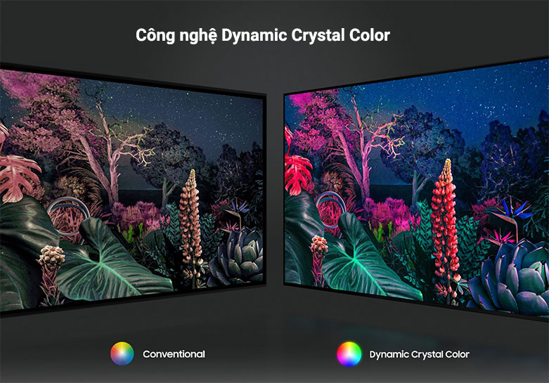 Smart Tivi Samsung 4K UHD 43 Inch UA43AU8000KXXV || công nghệ Dynamic Crystal Color