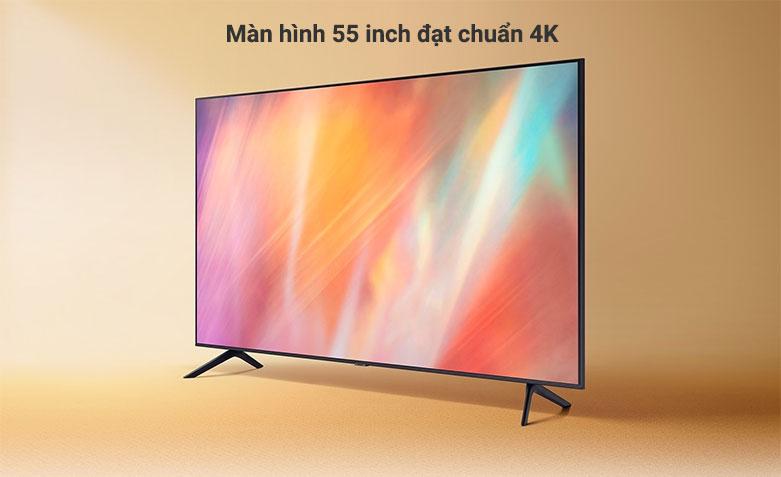 Smart Tivi Samsung 4K UHD 55 Inch UA55AU7000KXXV    màn hình 55 inch đạt chuẩn 4K