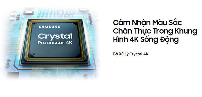 Smart Tivi Samsung 4K UHD 55 Inch UA55AU7000KXXV    bộ xử lý Crystal 4K