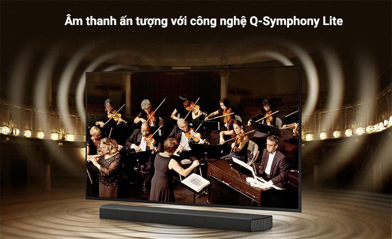 Smart Tivi Samsung 4K UHD 55 Inch UA55AU7000KXXV    m thanh ấn tượng với công nghệ Q-Symphony Lite