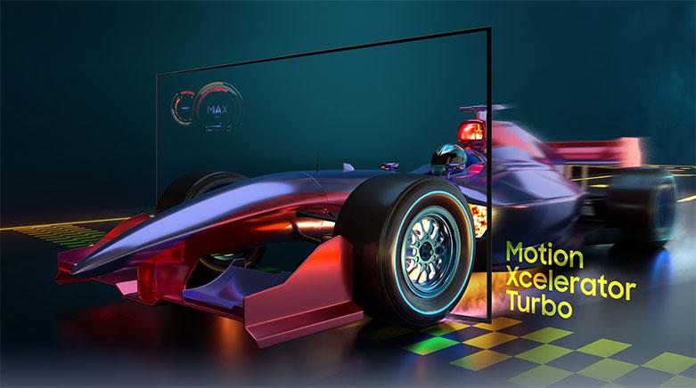 Smart Tivi Samsung 4K UHD 55 Inch UA55AU9000KXXV   công nghệ Motion Xcelerator Turbo