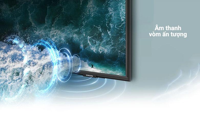 Smart Tivi Samsung 4K UHD 55 Inch UA55AU9000KXXV     m thanh vòm ấn tượng
