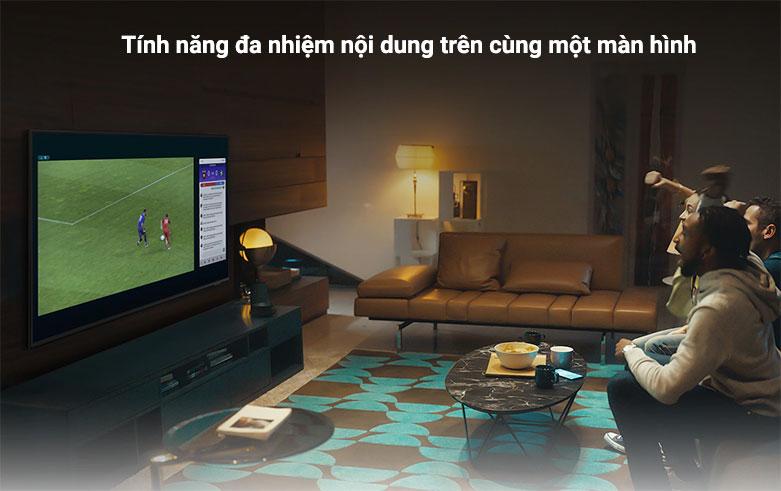 Smart Tivi Samsung 4K UHD 55 Inch UA55AU9000KXXV    tính năng đa nhiệm nội dung trên cùng một màn hình