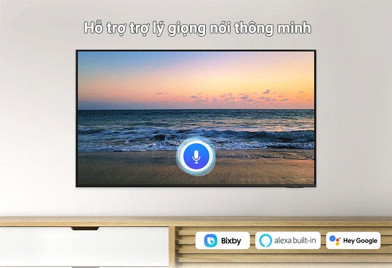 Smart Tivi Samsung 4K UHD 65 Inch UA65AU8000KXXV    tích hợp cả 3 trợ lý giọng nói