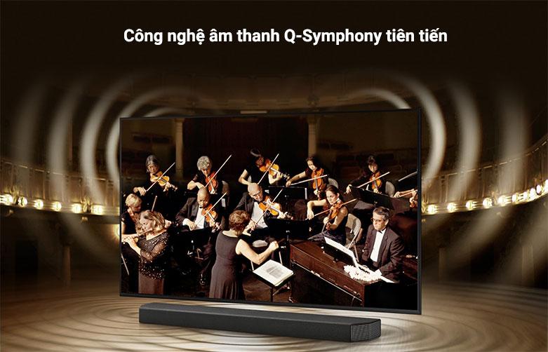 Smart Tivi Samsung 4K UHD 85 Inch UA85AU8000KXXV ||  công nghệ âm thanh Q-Symphony