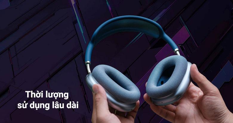 Tai nghe AirPods Max Sky Blue (MGYL3ZA/A) | Thời lượng sử dụng lâu dài