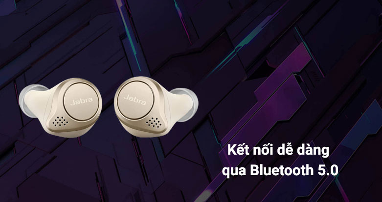 Tai nghe Bluetooth Jabra Elite 75t (Gold Beige)   Kết nối dễ dàng