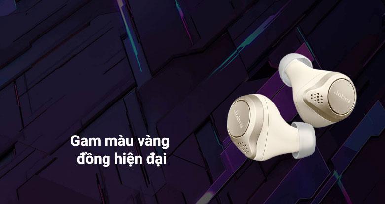 Tai nghe Bluetooth Jabra Elite 75t (Gold Beige)   gam màu đồng hiện đại