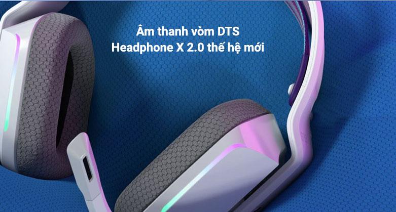 Tai nghe không dây gaming Logitech G733 Lightspeed RGB (Trắng)   Âm thanh vòm DTS Headphone X 2.0