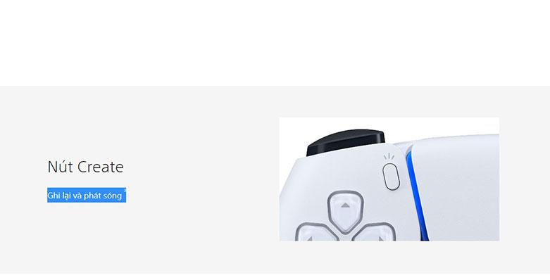 Tay cầm không dây Sony Playstation PS5 DUALSENSE | Tạo nội dung gameplay