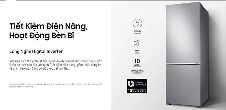 Tủ lạnh Samsung Inverter 280 lít RB27N4010BU/SV| Tiết kiệm điện năng