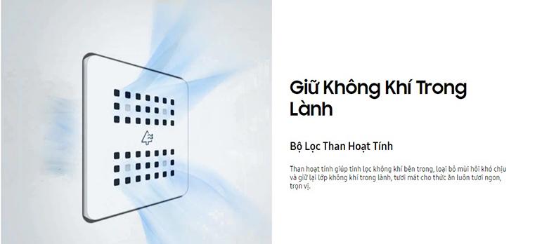 Tủ lạnh Samsung Inverter 280 lít RB27N4010BU/SV | Giữ không khí trong lành