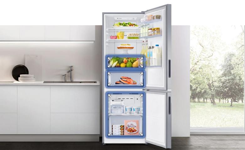 Tủ lạnh Samsung Inverter 280 lít RB27N4010BU/SV | Ngăn chứa thực phẩm lớn