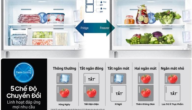 Tủ lạnh Samsung Inverter 299 lít RT29K5012S8/SV   Đáp ứng nhu cầu sử dụng