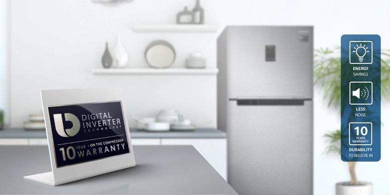 Tủ lạnh Samsung Inverter 299 lít RT29K5012S8/SV   Trang bị đông cơ hiện đại